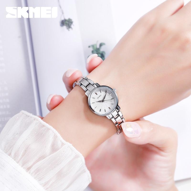 SKMEI Ladies Quartz Watch 2020 Top Brand Luxury Stainless Steel Female Wristwatches Women Clock Watches Relogio Feminino 1410