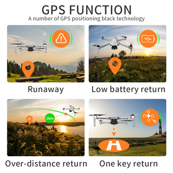 2021 New KF102 Drone 8k HD Camera 2-Axis Gimbal Professional Anti-Shake Aerial Photography Brushless Foldable Quadcopter 1.2km 4