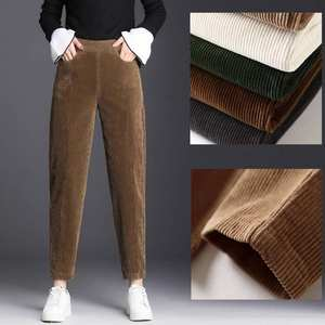 Harem Pants Trousers Loose Vintage Female High-Waist Casual Corduroy Thin Mujer