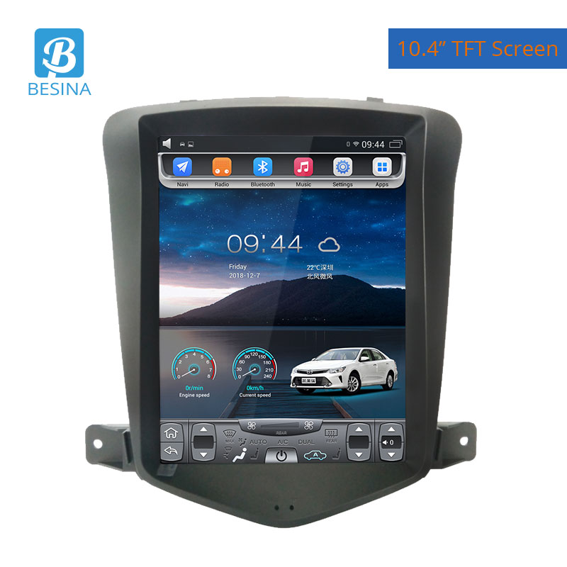 Besina 10.4 inch Android 9.1 <font><b>Car</b></font> <font><b>Radio</b></font> <font><b>For</b></font> <font><b>CHEVROLET</b></font> <font><b>AVEO</b></font> Multimedia Player WIFI GPS Navigation 4G+64G Stereo Audio image
