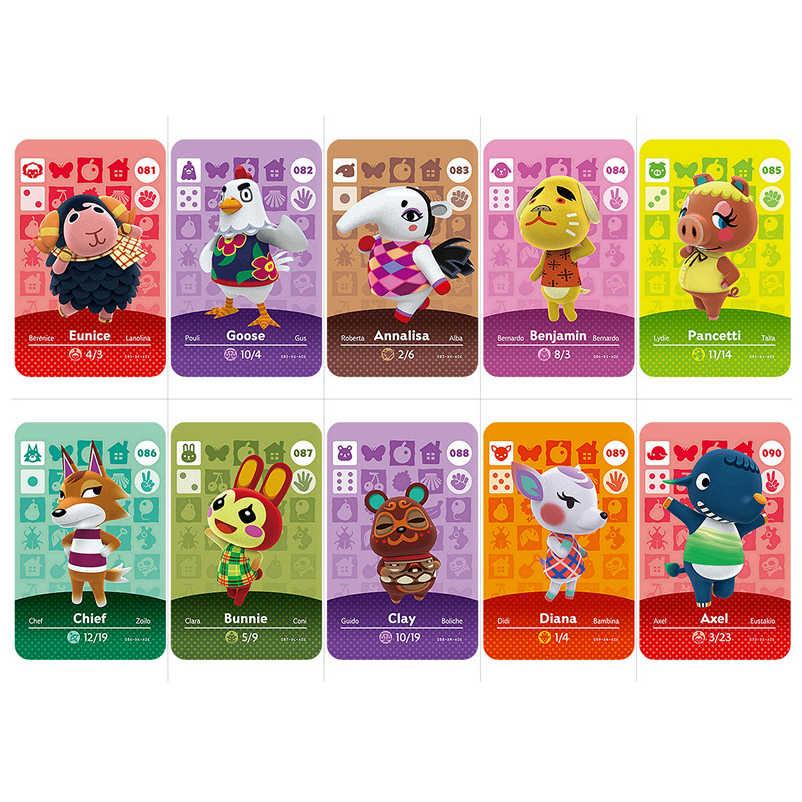 81-100 Carta di Lavoro della Carta di Amiibo per NS Animal Crossing Giochi Serie 2 Eunice Oca Capo Diana Axel Gioco carte di Giocattoli
