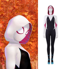 MANLUYUNXIAO Gwen Stacy Cosplay SpiderMan Into The Spider Verse Halloween Costumes Adult My Hero Academia Costume Women