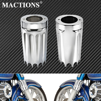 Motorcycle Front Fork Boot Sliders Cover CNC Chrome Fits For Harley Touring Trike Models Road King Street Electra Glide 08-17