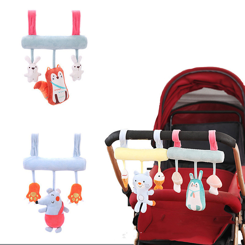 Baby Rattles Toys Plush Soft Animal Musical Rattle Stroller Hanging Mobile Newborn Crib Pendant Toy Baby Toys 0-12 Months