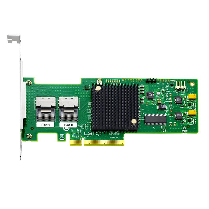 9240-8i LSI MegaRAID SAS  LSI00200 SAS2008-IT 8 port NO-RAID SFF8087 6Gb HBA JBOD PCI-E 2.0 X8 Controller Card LSI00200