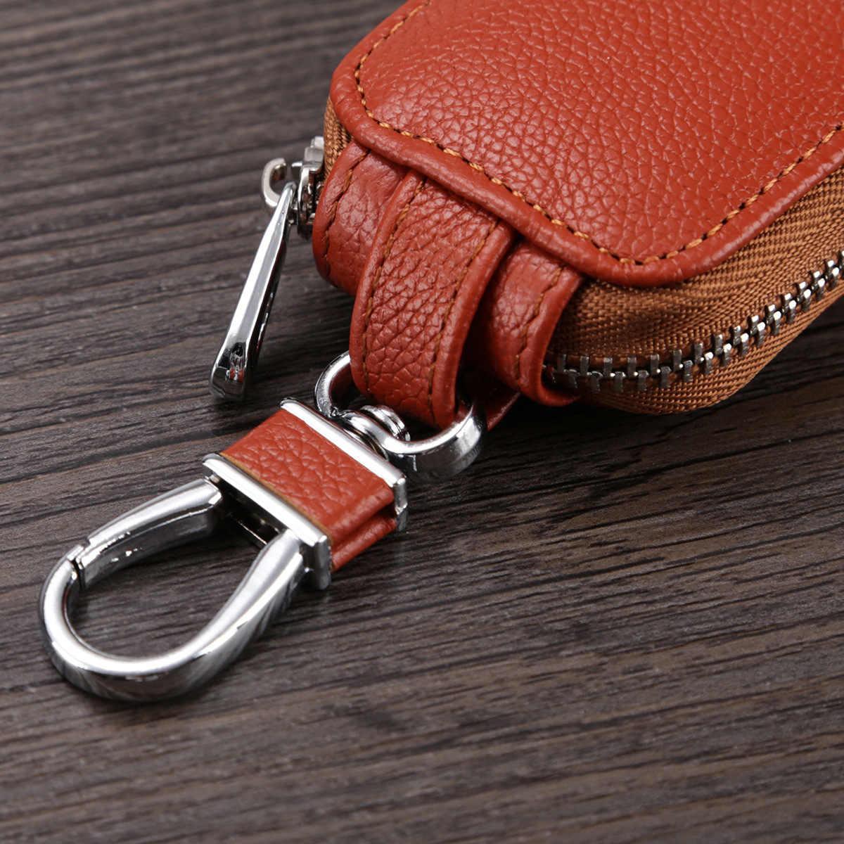 Key Pouch Mannen Autosleutel Case Cover Vrouwen Sleutelhouder Portemonnee Key Pocket Voor Mannelijke Vrouwelijke Echte Koe lederen Tas Key Organizer