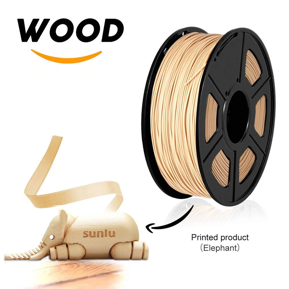 3D Printer Wood Fiber And Polylactic Acid Filament 100% No Bubble Sublimation Supplies Wood Fiber Filament 1.75MM 1KG With Spool