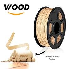 Sunlu 1.75mm filamento de madeira da impressora do pla 3d da fibra 3d 1kg plástico perto de materiais de efeito de madeira
