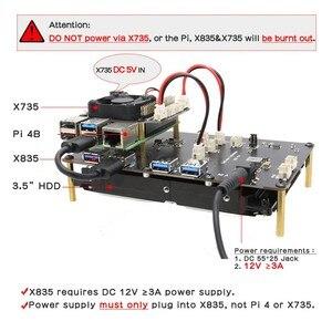 Image 2 - Raspberry Pi Modello B + X835 da 3.5 pollici SATA HDD di Memorizzazione 4 Bordo + X735 Scheda di Gestione di Alimentazione + DC 12V Adattatore di Alimentazione + Cassa del Metallo