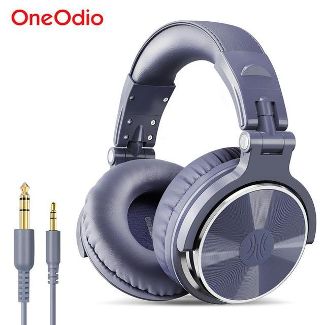 Oneodio Over ear 유선 게임용 헤드셋 (마이크 포함) pc베이스 스튜디오 DJ 헤드폰 전문 스테레오 모니터 Urbanfun