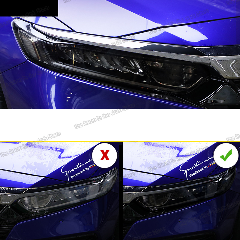 Lsrtw2017 TPU Car Transparent Black Headlight Film Protective Sticker For Honda Accord 2018 2019 2020 10th Anti-scratch