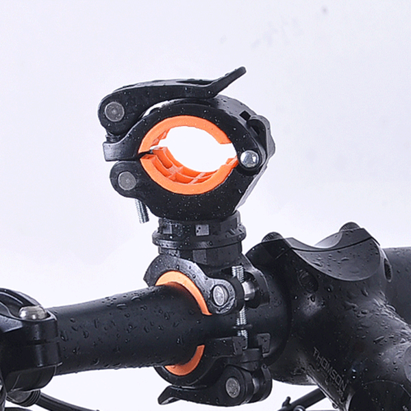 New Sale 360 Degree Rotating Cycling Bike Light Double Holder LED Front Flashlight Lamp Pump Handlebar Mount Holder Bicycle Acce|Bicycle Frame| |  - title=