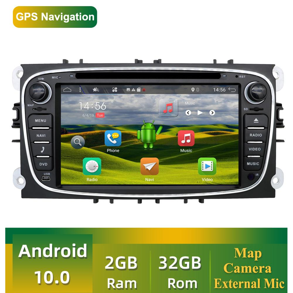 2 Din Android 9.0 Car Multimedia Player For Ford Focus Radio 2G RAM+32G ROM With GPS Navigation Free Camera,External Mic Map