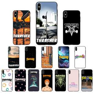 FHNBLJ thrasher Coque Shell Phone Case for iPhone 11 pro XS MAX 8 7 6 6S Plus X 5 5S SE XR SE2020(China)