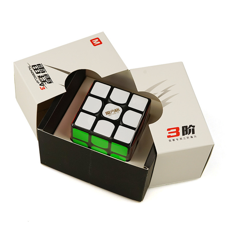 Fast Delivery Qiyi MoFangGe Thunderclap V3M 3x3x3 Magnetic Magic Cube Cubo Magico 3x3 Speed Built-in Magnets Cube Puzzles Toys