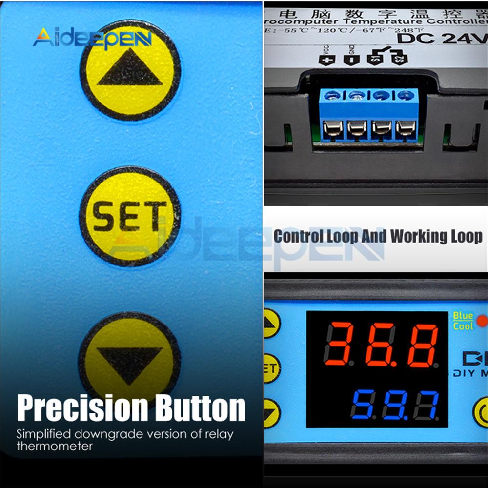 H329751af245249ecb4dec6f2647c1aecR W3230 AC 110V-220V DC12V 24V Digital Thermostat Temperature Controller Regulator Heating Cooling Control Instruments LED Display