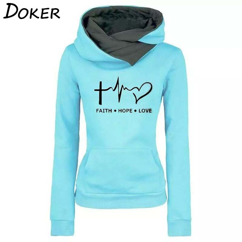 Frauen Hoodies Sweatshirts Herbst Winter Mode Muster Stickerei Langarm Oversize Damen Pullover Warme Tasche Mit Kapuze Tops
