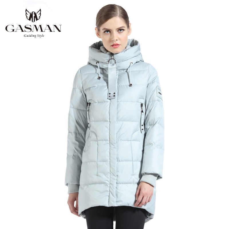 GASMAN 브랜드 여성 바이오 다운 재킷과 파카 여성을위한 긴 겨울 두꺼운 후드 코트 여성 새로운 겨울 컬렉션 2019 1816