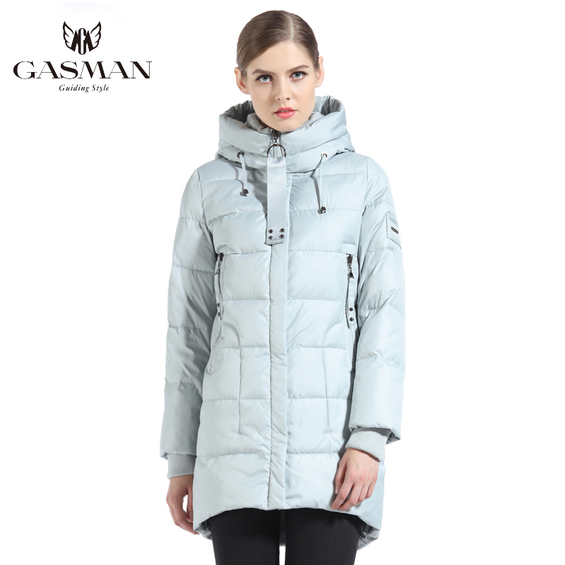 GASMAN Brand Women Bio Down Jacket And Parka Long For Women Winter Thickening Hooded Coat Women New Winter Collection 2019 1816