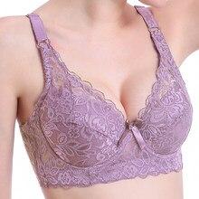 Seksi kadınlar için dantel sütyen Push Up kadınlar üst dikişsiz artı boyutu 80-105D Bra BH Backless Bralette balenli iç çamaşırı