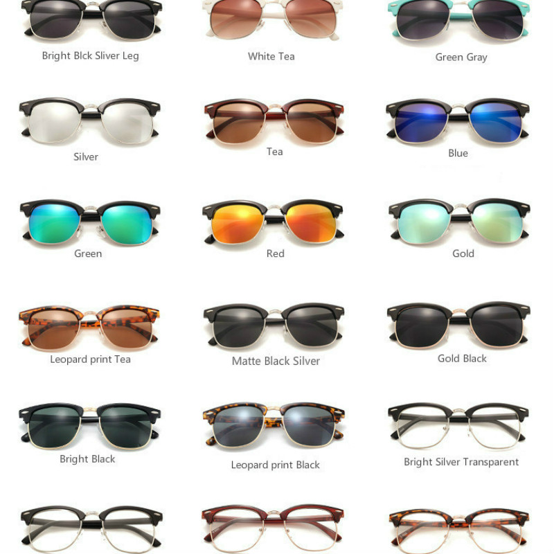 Men Retro Rivet Polarized Sunglasses Classic Brand Designer Unisex Sunglasses UV400
