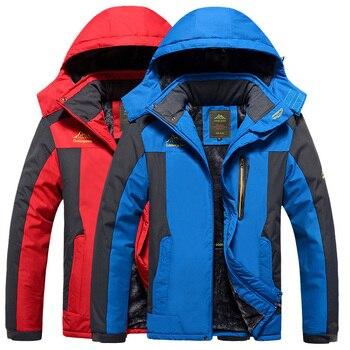 Ski Jacket Men Waterproof Windproof Snow Thermal Fleece Jacket For Outdoor Hiking Skiing Snowboard Jacket Winter Jacket For Men