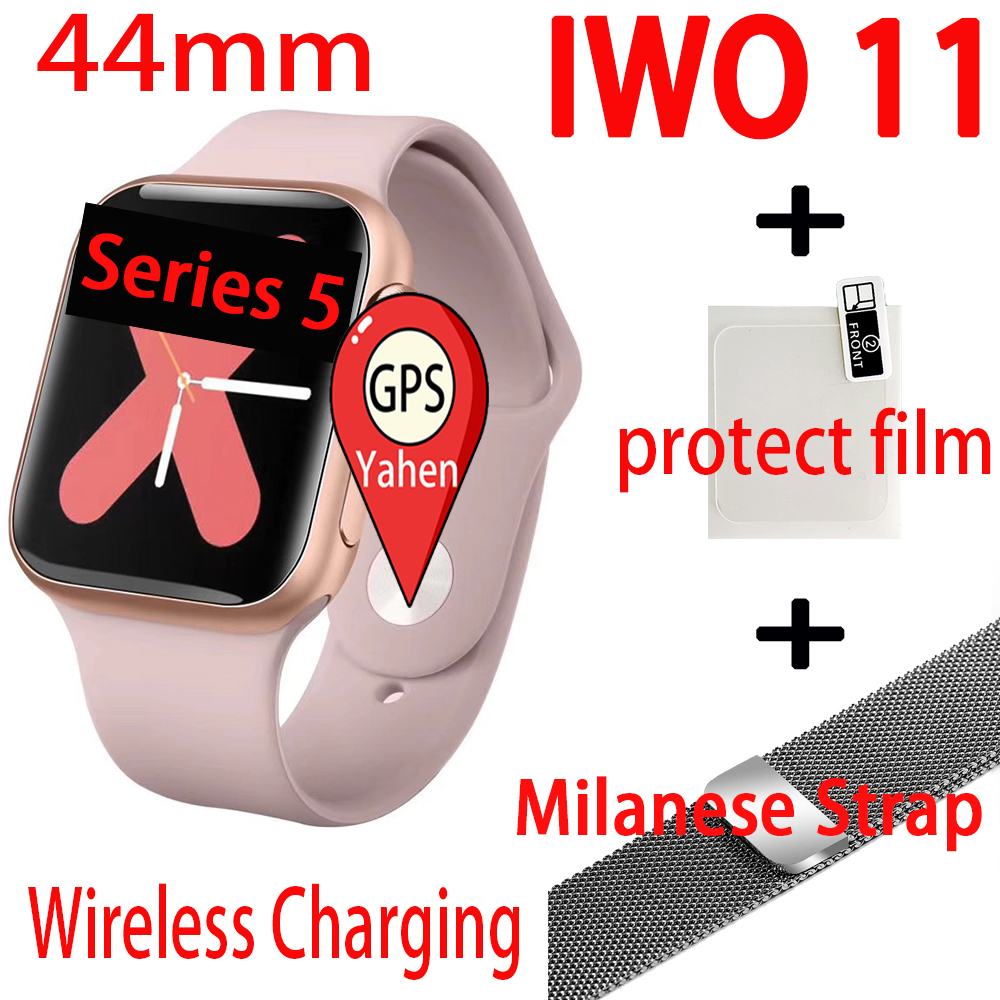 Smart Watch iwo 11 Women GPS Wireless charger Bluetooth Smartwatch 44mm for Apple Android ios phone Men Watch IWO 10 iwo8 update image