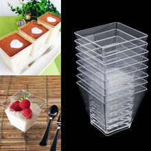Yogurt-Baking-Cups Dessert Mousses Plastic Food-Container Jelly Clear Disposable Pastry-Tools
