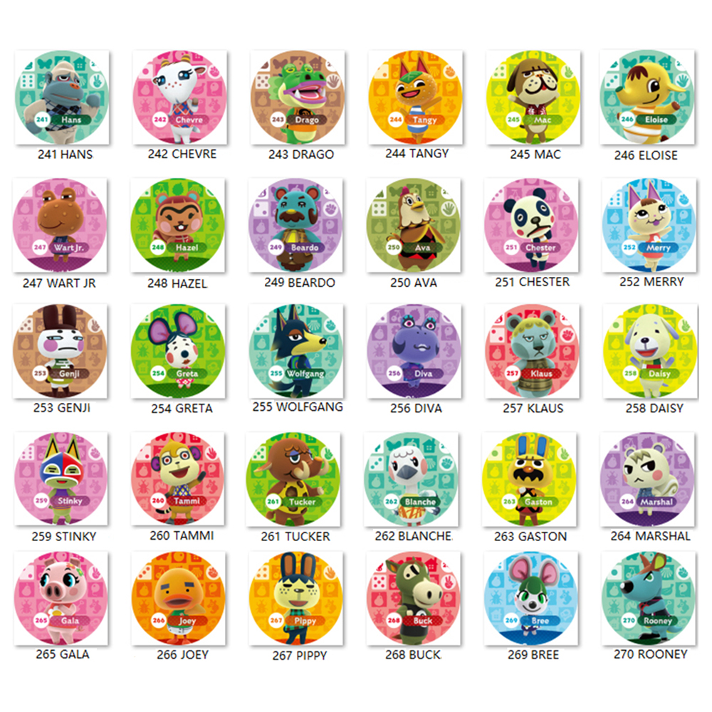Animal Crossing Card  (241 To 270) Amiibo Ntag215 Card Work For NS Games Series 1