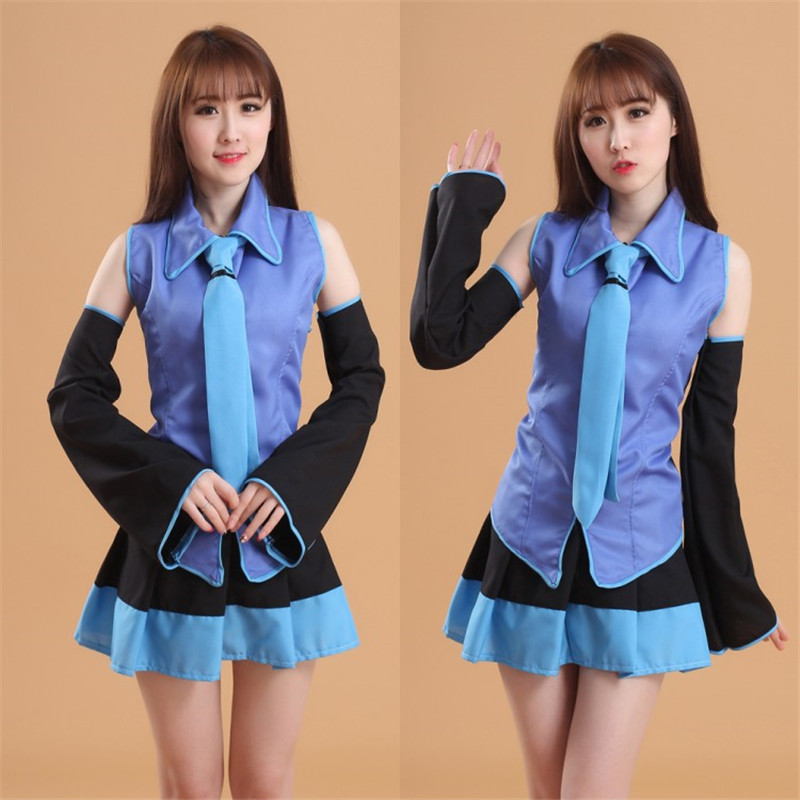 Full Set Vocaloid Cosplay Hatsune Miku Cosplay Costume Outfits Anime Halloween Costumes Maid Outfit MIKU Cute Student Clothes