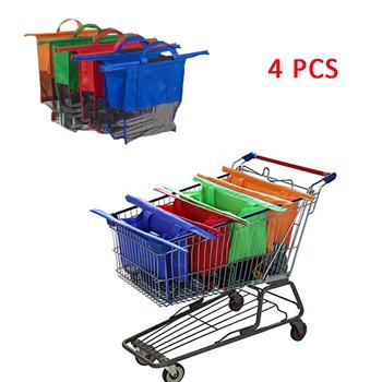 4 sztuk zestaw zagęścić wózek wózek Supermarket torby na zakupy składany wielokrotnego użytku ekologiczny sklep torebki Totes recyklingu torby na zakupy tanie i dobre opinie 775ZHW Chiny certyfikat (3C) Europa certyfikat (CE) USA certyfikat (UL) 2-4 lat 5-7 lat Dorośli Urodzenia ~ 24 Miesięcy
