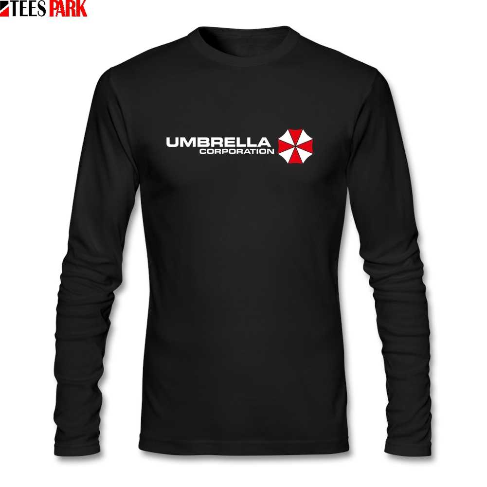 Umbrella Corporation T Shirts Men's Autumn O Neck Long Sleeve T-shirt Man Clothing Graphic Tees Abstract Top