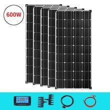 Painel solar 18v 120w-600w panele solare 12v 24v 36v 360w carregador de bateria da pilha placa solar fotovoltaica fora das aplicações da grade