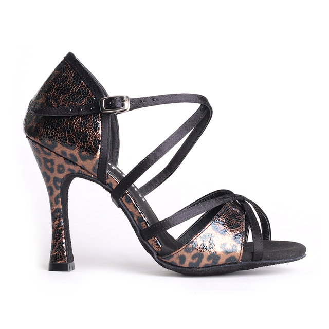 Suphini 살사 댄스 신발 라틴 댄스 신발 여성용 여성용 무도 회장 새틴 전문 살사