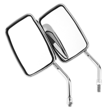 2pcs 10mm Modified Plated Universal Motorcycle Rearview Mirror for