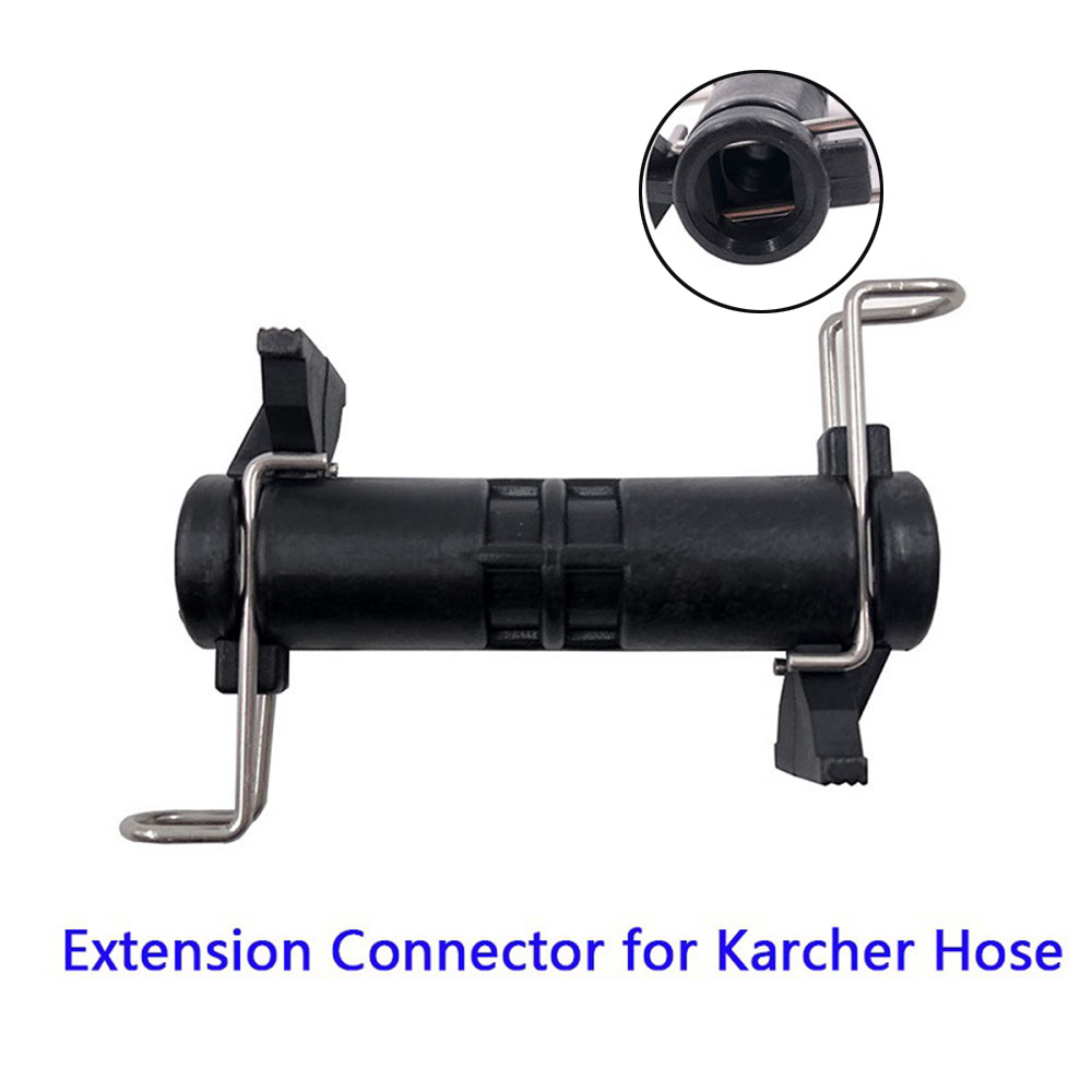 Black Nylon Hose Extension Connector For Karcher K2 K3 K4 K5 K6 K7 High Pressure Cleaner Hose Extension Joint Auto Parts