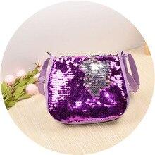 Kids Mini Handbag Color Change Sequin Crossbody Bags for Bab