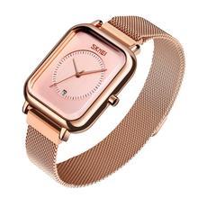 SKMEI מותג נשים של שעוני יוקרה רשת חגורת קוורץ שעון אופנה גבירותיי שמלת צמיד עמיד למים נשים שעון שעון