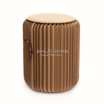 Creative Paper Stool Fashion Dining Stool Multifunctional Folding Low Stool Ottoman Home Living Room Furniture 300kg Bearing
