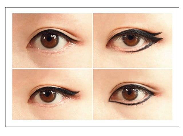 Waterproof Black Liquid Eyeliner Pencil Big Eyes Makeup Long-lasting Eye Liner Pen Make up Smooth Fast Dry Cat Eye Cosmetic Tool 5