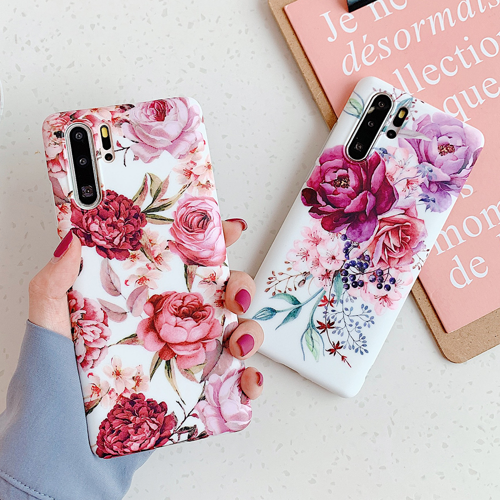 Vintage Banana Leaf Flower Phone Case For Samsung Galaxy S10e S10 S9 S8 Plus Note 10 9 8 Soft IMD Phone Back Cover Cases