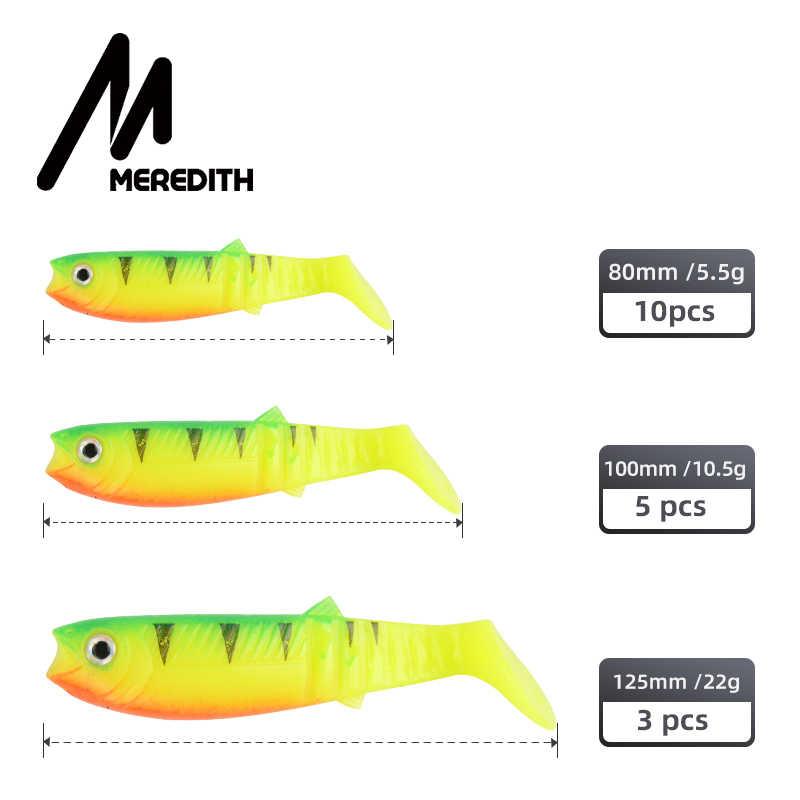 Meredith Kanibal Umpan 80 Mm 100 Mm 125 Mm Buatan Lembut Memancing Umpan Wobblers Memancing Umpan Lembut Silikon Shad Worm bass Umpan