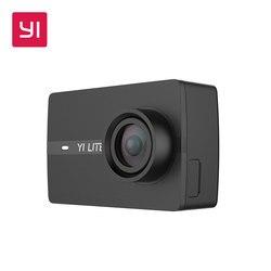 كاميرا تصوير الحركة من YI Lite بدقة 16 ميجابكسل كاميرا رياضية بجودة 4K حقيقية مع شاشة LCD 2 بوصة وواي فاي مدمجة عدسة بزاوية واسعة 150 درجة باللون الأسو...