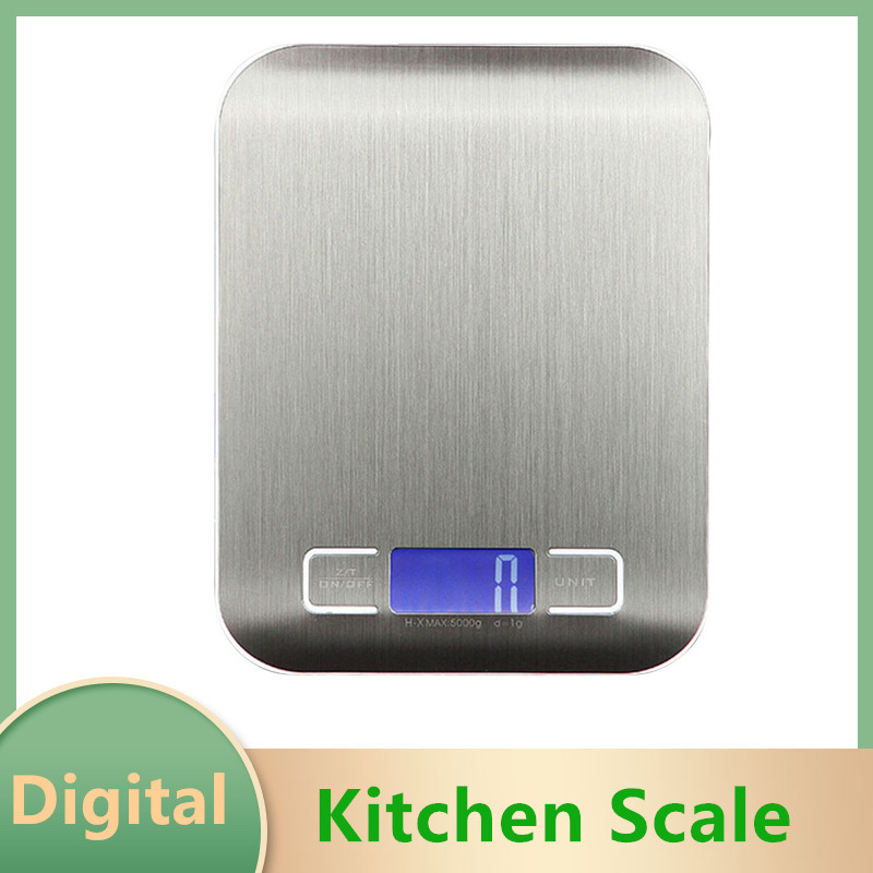 Precision Rechargeable Kitchen Electronic Scale Stainless Steel Digital Electronic Kitchen Diet Scale Baking Electronic Scale
