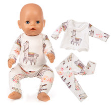 New Doll Clothes Born Baby Fit 18 inch 40-43cm Unicorn Alpac