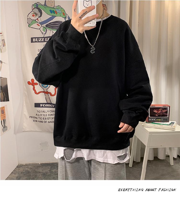 H32991dffea9840bebb923c809792d011A loose Korean style plus size sweatshirt winter clothes streetwear women 2020 new fashion plus velvet oversize harajuku hoodie