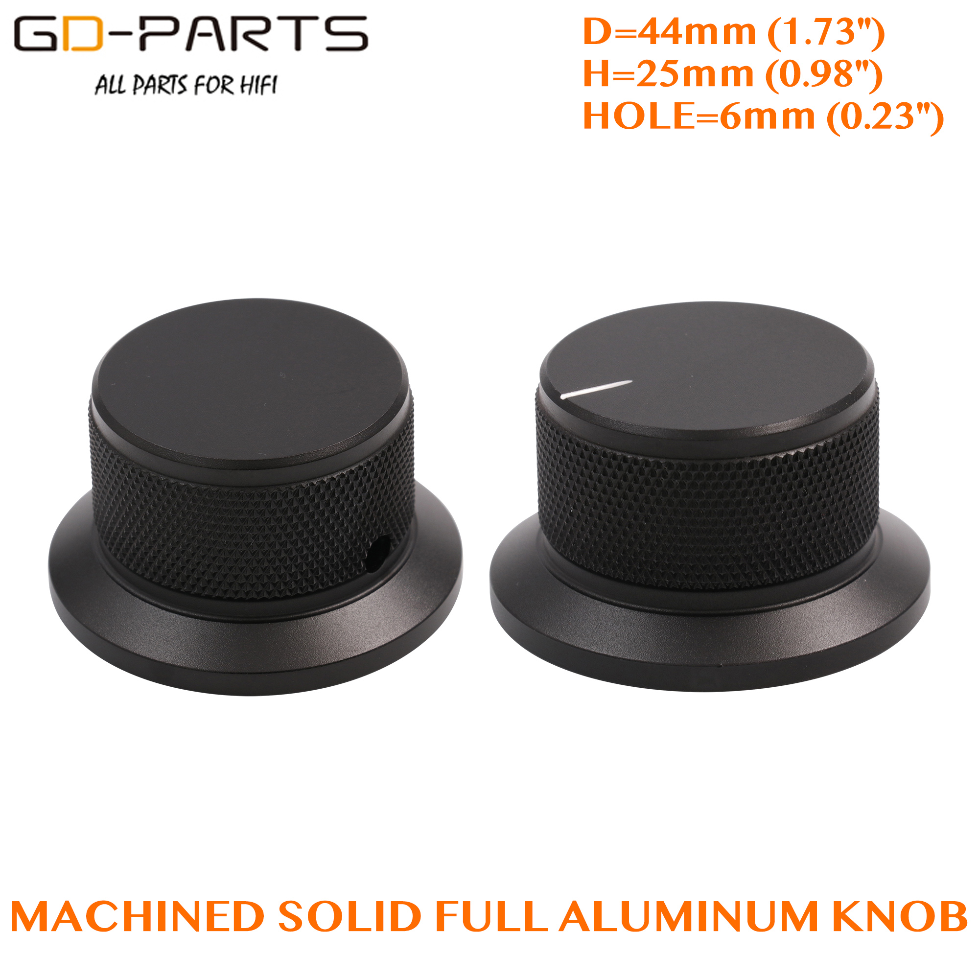 30*16mm Silver Solid Aluminum Knob For AMP Turntable Recorder Potentiometer 1PC
