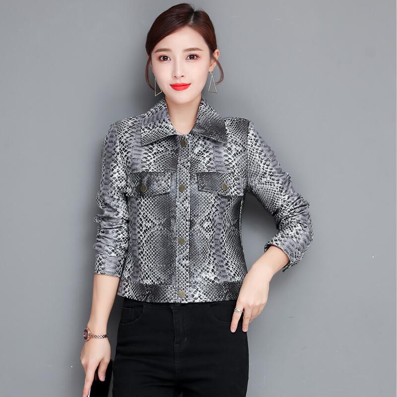Plus Size Women   Leather   Jacket New 2019 Women's   Leather   Clothing Short Slim Spring And Autumn Motorcycle Female   Leather   Coat
