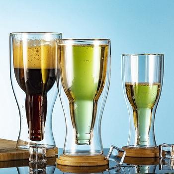 Kreatywny koktajl kieliszek do wina kubek podwójna ściana kubki piwo kieliszki do wina whisky kieliszek do szampana filiżanka kawy wódka kubki styl butelki tanie i dobre opinie CN (pochodzenie) ROUND Szkło Przezroczysty A-530-02 High-Boron silicon glass High heat resistance Milk cup Tea cup Coffee cup Wine cup Beer cup Juice Cup