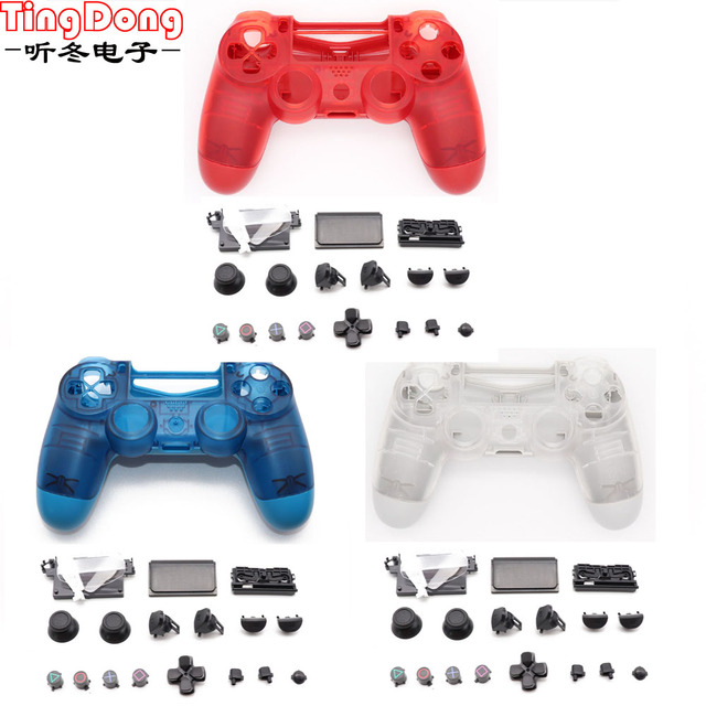 เชลล์กรณีคริสตัล Clear สำหรับ Playstation 4 Pro PS4 Slim Pro Controller 4.0 JDS 040 JDM 040 รุ่น 2 gen